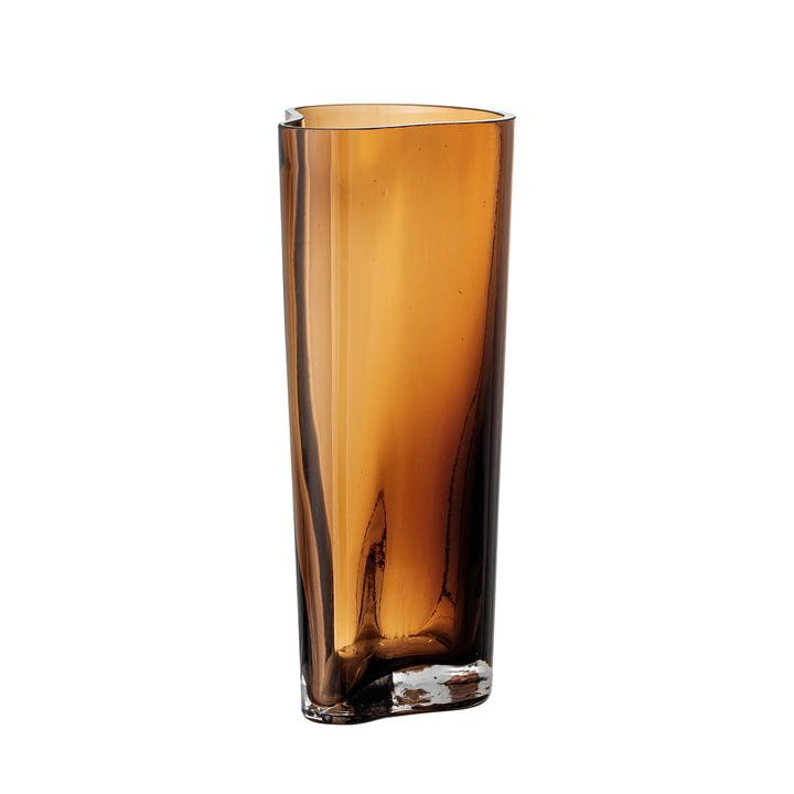 Benia Vase en verre, h 20 cm de Bloomingville en brun