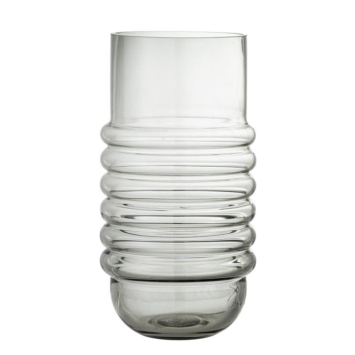 Belma Vase en verre H 30 cm de Bloomingville en couleur gris