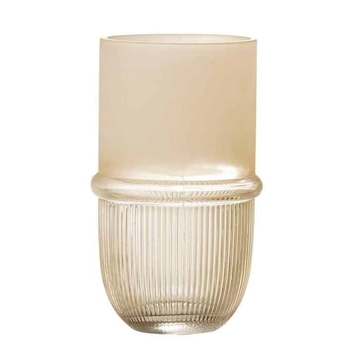 Belise Vase en verre H 18,5 cm de Bloomingville en couleur naturelle