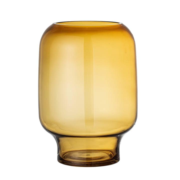 Adine Vase en verre H 25 cm de Bloomingville en jaune