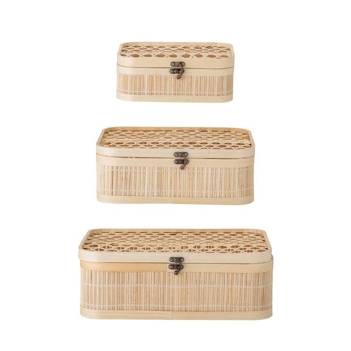 Jach Boîte de rangement, bambou naturel (lot de 3) de Bloomingville