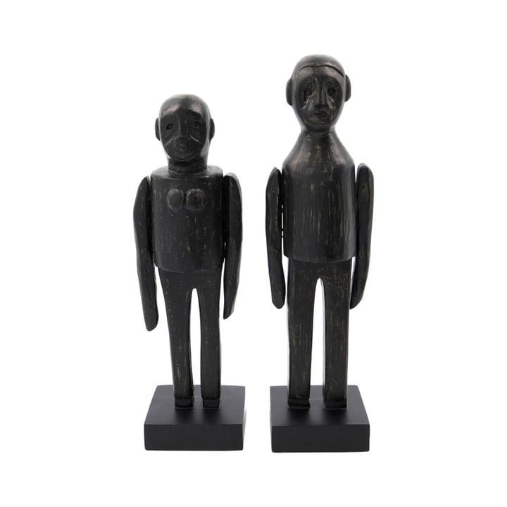 Spouses Paire de sculptures de House Doctor en noir