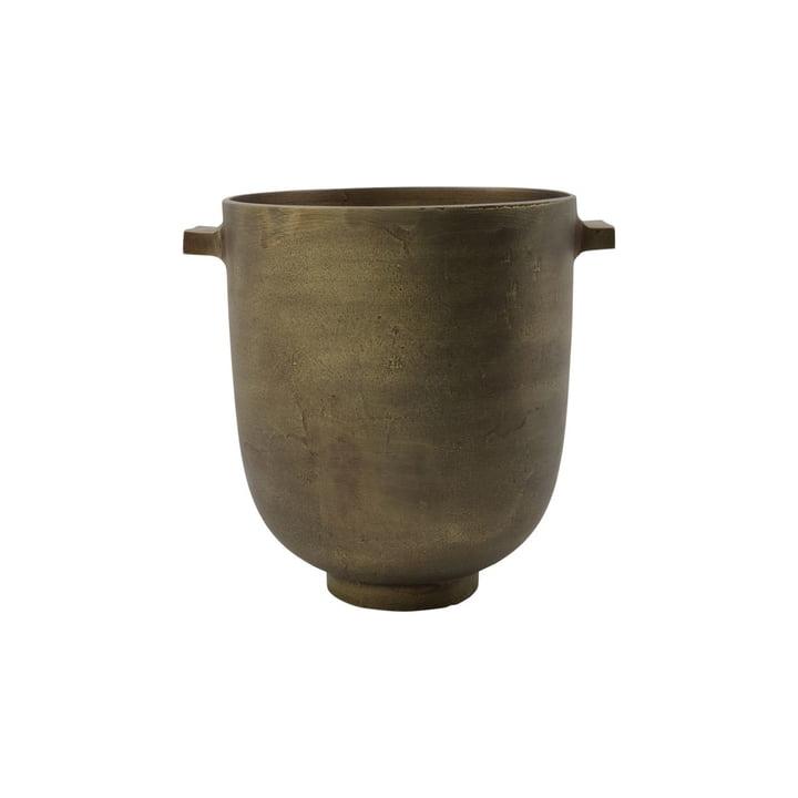 Foem Cache-pot Ø 20 x H 24 cm de House Doctor , laiton antique