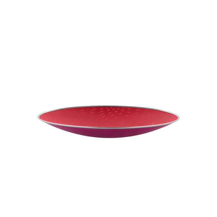 Cohncave Bol de Alessi avec le diamètre Ø 33 cm en couleur rouge