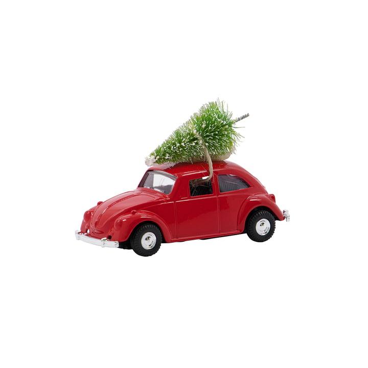 Xmas Cars Voiture décorative de House Doctor de couleur rouge