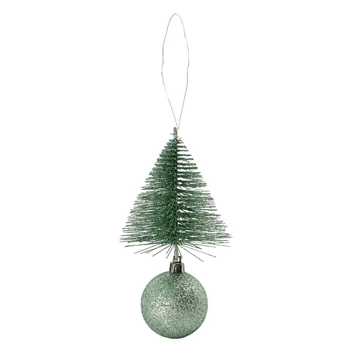 Décoration d'arbre de Noël & boule de House Doctor dans la couleur vert poussiéreux