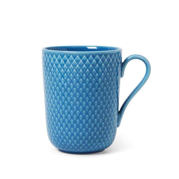 Rhombe Mug avec anse 33 cl, bleu de Lyngby Porcelæn