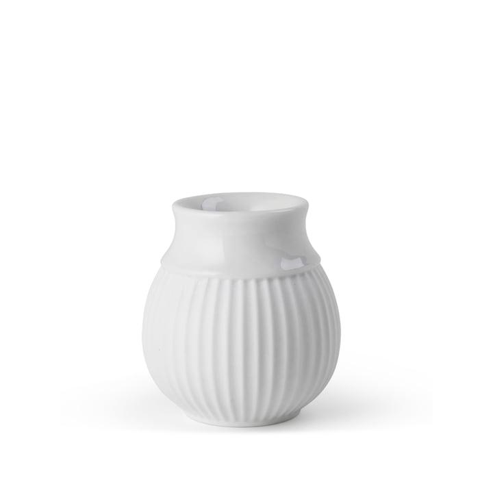 Curve Bougeoir H 7 cm, blanc de Lyngby Porcelæn