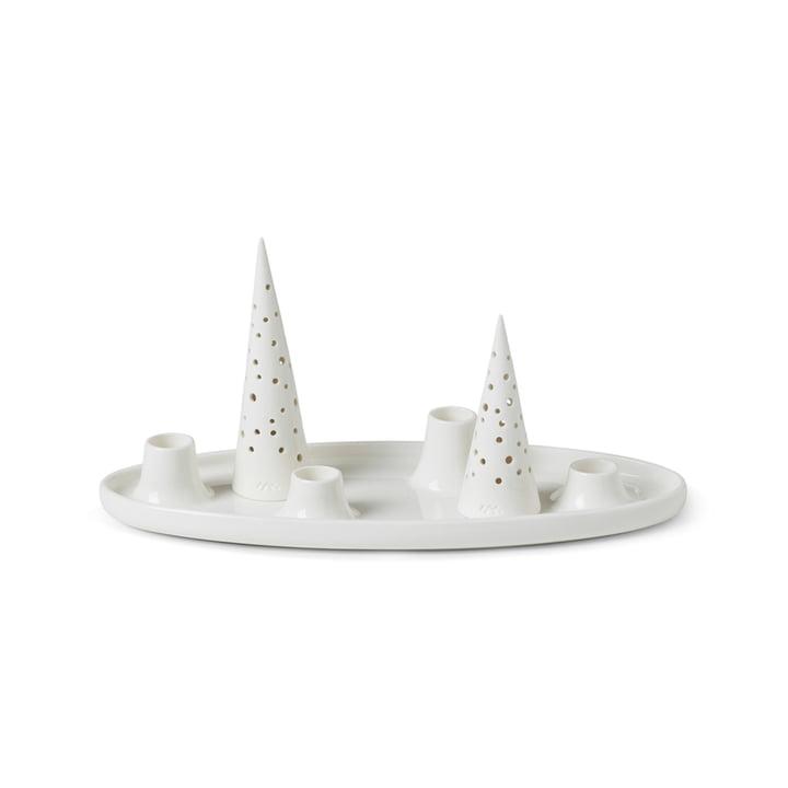 Nobili Porte-bougies de l'Avent de Kähler Design en blanc neige