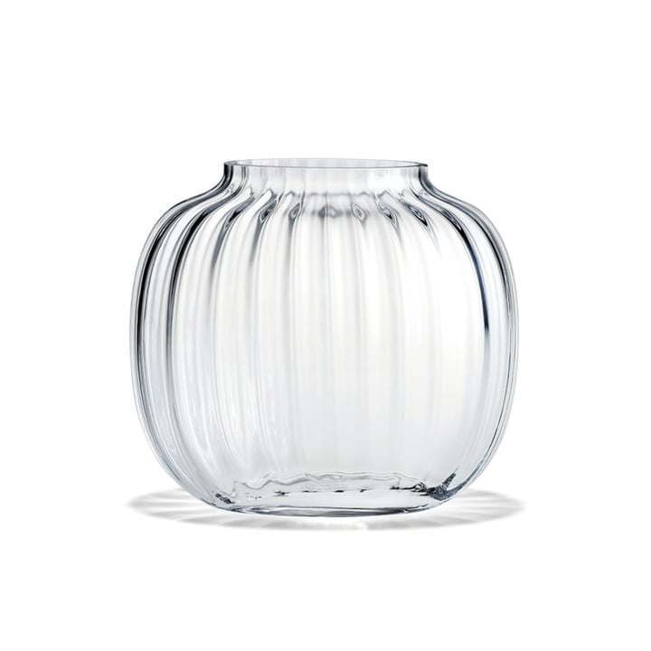Primula Vase ovale de Holmegaard en version transparente