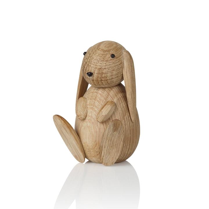 Bunny Figure en bois H 8,5 cm de Lucie Kaas en chêne