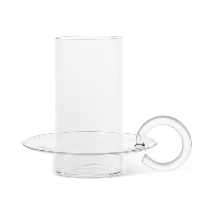 Luce Porte-bougies en verre de ferm Living en version transparente