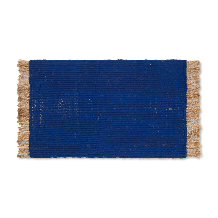 Block Paillasson de ferm Living de couleur bleue