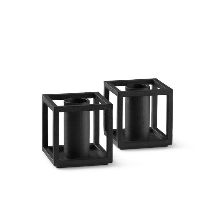 Kubus Micro bougeoir de by Lassen dans la couleur noire