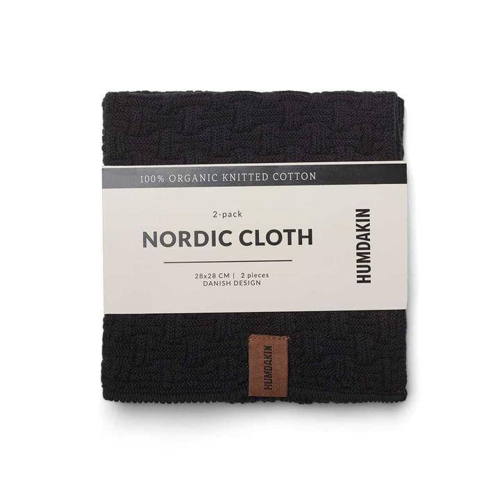 Nordic Torchon, 28 x 28 cm par Humdakin dans coal (ensemble de 2)