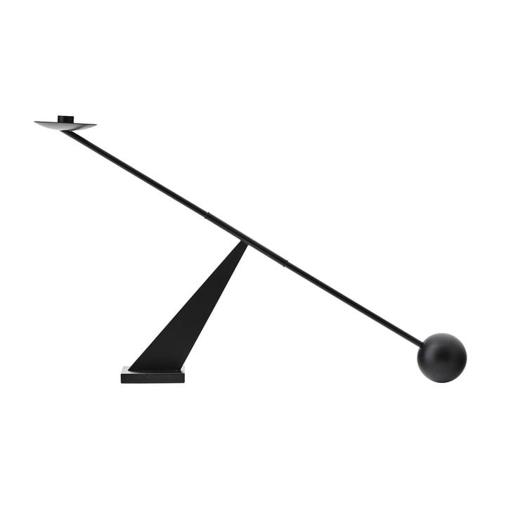 Interconnect Chandelier, h 41.5 x l 70 cm, noir par MENU