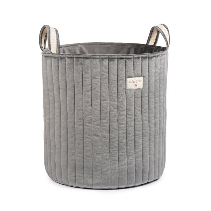 Savanna Panier de rangement de Nobodinoz dans la couleur gris ardoise