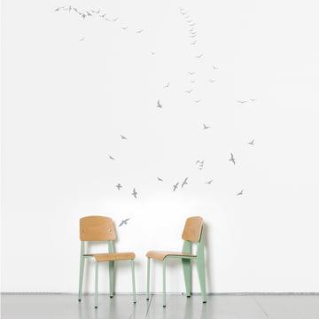 Domestic - Sticker mural Flock of Gulls