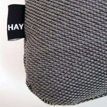 Hay - Coussin Dot 2x2 Steelcut Trio, gris foncé