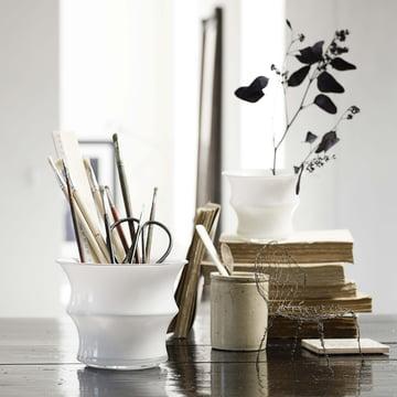 Holmegaard - Karen Blixen Cache-pot - avec des stylos à l'intérieur