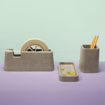 Areaware - Série Concrete Desk (série de 3 pièces)
