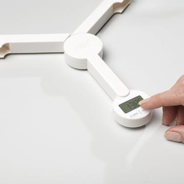 Joseph Joseph - Balance pliable TriScale, blanc - affichage, utilisation