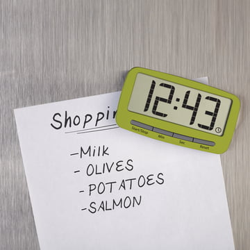 Joseph Joseph - Clip Timer, vert - Aimant, liste d'achats