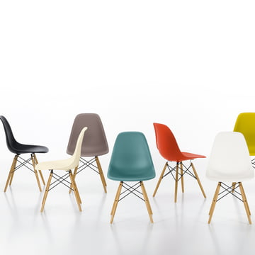Vitra - Eames Plastic Side Chair DSW, divers - photo de groupe