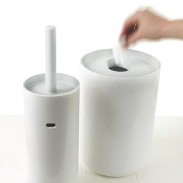 Authentics - Lunar brosse WC, blanc / blanc