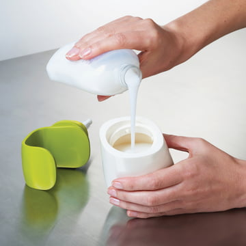 Joseph Joseph - Distributeur de savon C-pump, blanc/vert - Remplissage