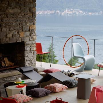 MVS chaise lounge par Vitra avec coussin