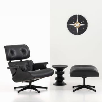 Vitra - Petal Clock, noir/laiton