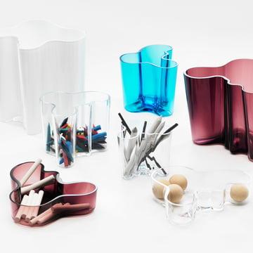 Iittala - Aalto groupe / vases en verre et coupes