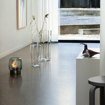 Vase Finlandia et photophore Kaasa sur le sol