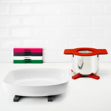 Eva Solo - Pots Gravity, casseroles, rouge /dessous de plat