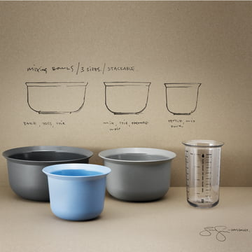 Rig-Tig by Stelton - Verre doseur 1l/bols mixeurs
