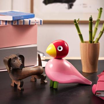 L'oiseau chanteur et le chien en bois de Kay Bojesen