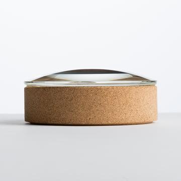 Hay - Lens Box / couvercle, Ø 14 cm, liège, verre - latéral