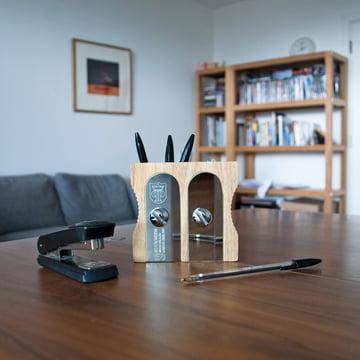 Suck UK - Pot à crayons Sharpener Desk Tidy, double
