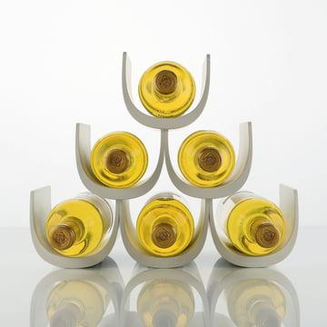 Alessi - Porte-bouteille avec système modulaire Noè, rempli, blanc