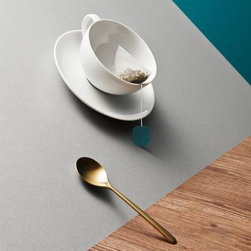 Kahla - Service à thé Magic Grip, tasse et cuillère en biais