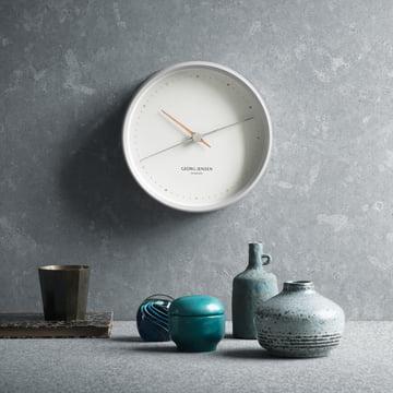 Georg Jensen - Henning Koppel Horloge murale Graphic, blanc, ambiance