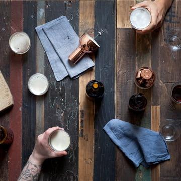Menu - Mousseur à bière, cuivre