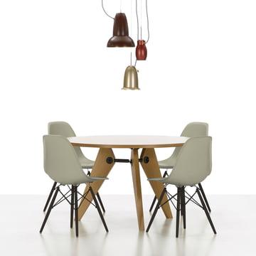 Vitra - Eames Plastic Side Chair DSW, érable foncé / Sea Cyprus