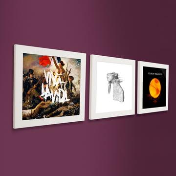 Art Vinyl - Cadre Flip Frame, set de 3 pièces, blanc