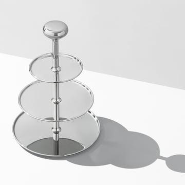 Georg Jensen - Présentoir à gâteaux à étages Alfredo, acier inoxydable