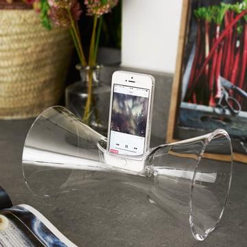 Holmegaard - Amplificateur de son pour smartphones Urania, transparent