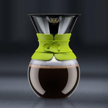 Bodum - Cafetière à piston Pour Over avec filtre permanent, bec court, 1,0 l, citron vert