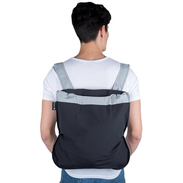 Notabag - Sac à main et à dos, gris/noir