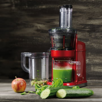 KitchenAid - Extracteur de jus en rouge empire